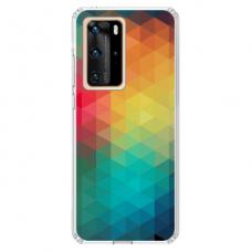 """Huawei P40 Unique Silicone Case 1.0 mm 1.0 mm """"u-case airskin Pattern 3 design"""""""