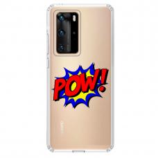 "Huawei P40 Unique Silicone Case 1.0 mm 1.0 mm ""u-case airskin POW design"""