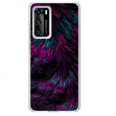 "Huawei P40 Unique Silicone Case 1.0 mm ""u-case Airskin Feather design"""