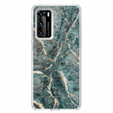 "Huawei P40 Unique Silicone Case 1.0 mm ""u-case airskin Marble 1 design"""