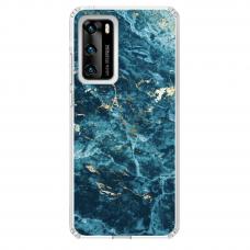 "Huawei P40 Unique Silicone Case 1.0 mm ""u-case Airskin Marble 2 design"""