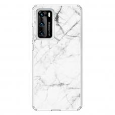 "Huawei P40 Unique Silicone Case 1.0 mm ""u-case Airskin Marble 6 design"""