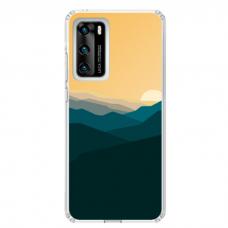 "Huawei P40 Unique Silicone Case 1.0 mm ""u-case Airskin Mountains 2 design"""