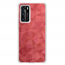"""Huawei P40 Unique Silicone Case 1.0 mm """"u-case Airskin Pattern 6 design"""""""