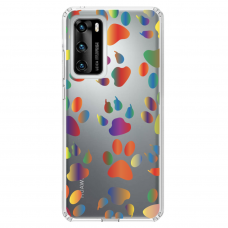 "Huawei P40 Unique Silicone Case 1.0 mm ""u-case Airskin PAW design"""