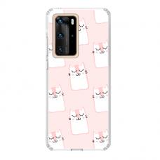 "Huawei P40 Unique Silicone Case 1.0 mm ""u-case Airskin Pink Kato design"""