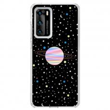 "Huawei P40 Unique Silicone Case 1.0 mm ""u-case Airskin Planet design"""
