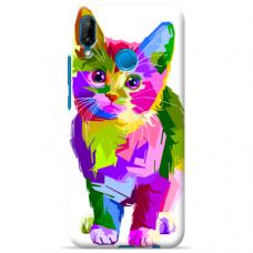 "Huawi P20 Lite silicone phone case with unique design 1.0 mm ""u-case Airskin Kitty design"""