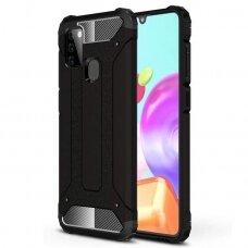 Hybrid Armor Case Tough Rugged Cover for Samsung Galaxy A21S black