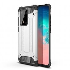 Hybrid Armor Case Tough Rugged Cover for Samsung Galaxy S20 Plus silver (SAS20PL)