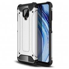 Hybrid Armor Case Tough Rugged Cover for Xiaomi Redmi 10X 4G / Xiaomi Redmi Note 9 silver