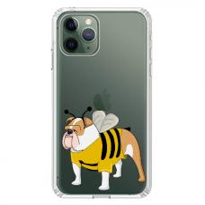 """Iphone 11 Pro max silicone phone case with unique design 1.0 mm """"u-case Airskin Doggo 1 design"""""""