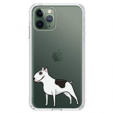 """Iphone 11 Pro max silicone phone case with unique design 1.0 mm """"u-case Airskin Doggo 3 design"""""""