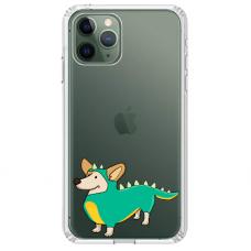 """Iphone 11 Pro max silicone phone case with unique design 1.0 mm """"u-case Airskin Doggo 4 design"""""""
