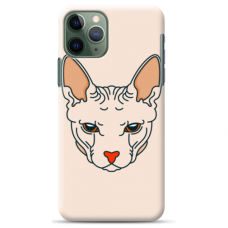 "Iphone 11 pro max silicone phone case with unique design 1.0 mm ""u-case Airskin Kato design"""