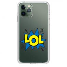 "Iphone 11 Pro max silicone phone case with unique design 1.0 mm ""u-case Airskin LOL design"""