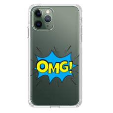 "Iphone 11 Pro max silicone phone case with unique design 1.0 mm ""u-case Airskin OMG design"""