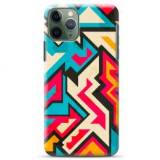 "Iphone 11 Pro max silicone phone case with unique design 1.0 mm ""u-case Airskin Pattern 7 design"""