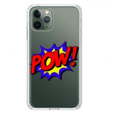 """Iphone 11 Pro max silicone phone case with unique design 1.0 mm """"u-case Airskin POW design"""""""