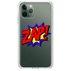 "Iphone 11 Pro max silicone phone case with unique design 1.0 mm ""u-case airskin ZAP design"""
