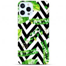 """Iphone 11 Pro max Unique Silicone Case 1.0 mm """"u-case Airskin Leaves 2 design"""""""