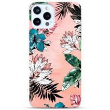 """Iphone 11 Pro max Unique Silicone Case 1.0 mm """"u-case Airskin Flowers 1 design"""""""