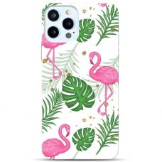 """Iphone 11 Pro max Unique Silicone Case 1.0 mm """"u-case Airskin Flamingos design"""""""