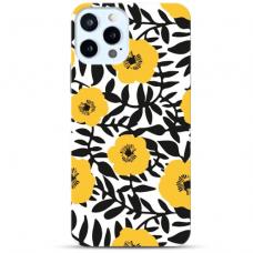 """Iphone 11 Pro max Unique Silicone Case 1.0 mm """"u-case Airskin Flowers 2 design"""""""