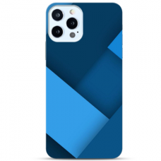 "Iphone 11 Pro max Unique Silicone Case 1.0 mm ""u-case Airskin Blue design"""
