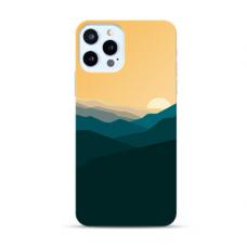 "Iphone 11 pro max Unique Silicone Case 1.0 mm ""u-case Airskin Mountains 2 design"""