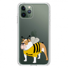 "Iphone 11 Pro silicone phone case with unique design 1.0 mm ""u-case Airskin Doggo 1 design"""