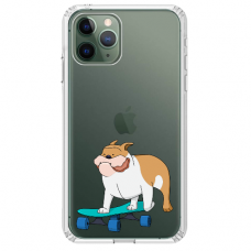 "Iphone 11 Pro silicone phone case with unique design 1.0 mm ""u-case Airskin Doggo 2 design"""