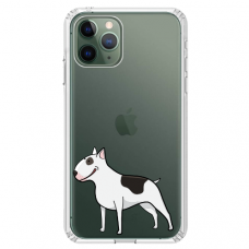 "Iphone 11 Pro silicone phone case with unique design 1.0 mm ""u-case Airskin Doggo 3 design"""