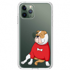 "Iphone 11 Pro silicone phone case with unique design 1.0 mm ""u-case Airskin Doggo 5 design"""