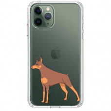 "Iphone 11 Pro silicone phone case with unique design 1.0 mm ""u-case Airskin Doggo 6 design"""