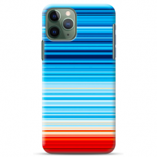 "Iphone 11 Pro silicone phone case with unique design 1.0 mm ""u-case Airskin Pattern 2 design"""