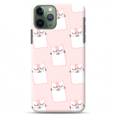 "Iphone 11 pro silicone phone case with unique design 1.0 mm ""u-case Airskin Pink Kato design"""
