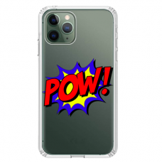 "Iphone 11 Pro silicone phone case with unique design 1.0 mm ""u-case Airskin POW design"""