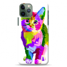 "Iphone 11 Pro silicone phone case with unique design 1.0 mm ""u-case airskin Kitty design"""