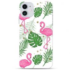 """Iphone 11 Pro Unique Silicone Case 1.0 mm """"u-case Airskin Flamingos design"""""""
