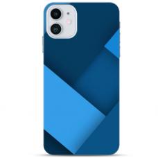 "Iphone 11 Pro Unique Silicone Case 1.0 mm ""u-case Airskin Blue design"""