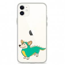 """Iphone 11 silicone phone case with unique design 1.0 mm """"u-case Airskin Doggo 4 design"""""""