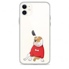 """Iphone 11 silicone phone case with unique design 1.0 mm """"u-case Airskin Doggo 5 design"""""""