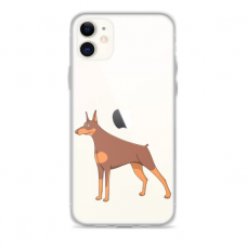 """Iphone 11 silicone phone case with unique design 1.0 mm """"u-case Airskin Doggo 6 design"""""""