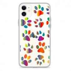 """Iphone 11 silicone phone case with unique design 1.0 mm """"u-case Airskin PAW design"""""""