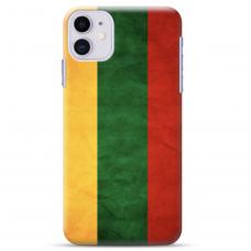 "Iphone 11 silicone phone case with unique design 1.0 mm ""u-case Airskin Lietuva design"""
