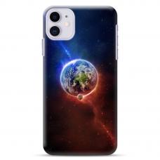 """Iphone 11 silicone phone case with unique design 1.0 mm """"u-case Airskin Nature 4 design"""""""