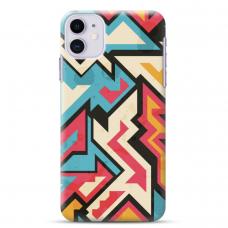 "Iphone 11 silicone phone case with unique design 1.0 mm ""u-case Airskin Pattern 7 design"""