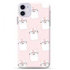 "Iphone 11 silicone phone case with unique design 1.0 mm ""u-case Airskin Pink Kato design"""