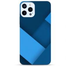 "Iphone 12/ 12 Pro Unique Silicone Case 1.0 mm ""u-case Airskin Blue design"""